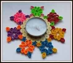 Trupti's Craft: Multipurpose Paper Quilling Candle Holder / Orname...