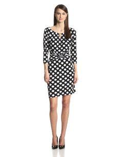 MSK Women's Elbow Sleeve Dot Dress #workdresses