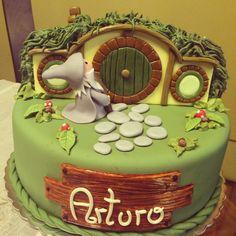 El hobbit torta de cumpleaños :)