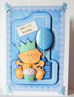 1st Birthday Boy Topper And Decoupage