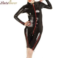 >> Click to Buy << Women Sexy Rubber Latex Catsuit Wet Look Black Rubber Jumpysuit Ladies Plus Size Fetish Latex Costume LC090 #Affiliate