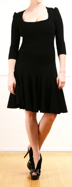 Black Fit & Flare Dress.