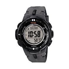 Casio Men's PRO Trek Solar Digital Watch, Black