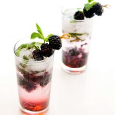 Blackberry Citrus Mojito - Sweet and Tart and perfect for summertime!