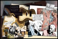 The founding fathers of cubism, Braque and Picasso. From: Perspectives on art by Henk van Os, via Behance
