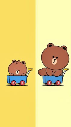 Cony Brown, Simple Character, Bunny And Bear, Brown Line, Line Friends, Funny Wallpapers, Creative Art, Pikachu, Kitty