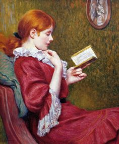 The Good Book (1897) by Federico Zandomeneghi (Italian, 1841-1917).
