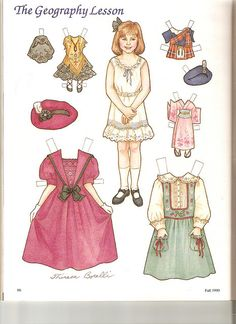 (⑅ ॣ•͈ᴗ•͈ ॣ)♡                                                             ✄Sew Beautiful paper doll Geography 1 by Lagniappe*Too, via Flickr