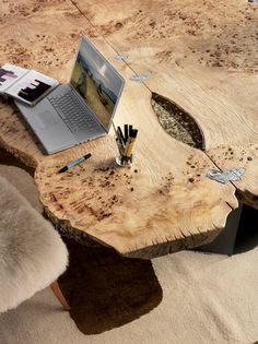 Деревянная мебель из необрезной доски