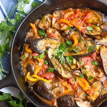 Eggplant Cacciatore with Italian Eggplant, Olive Oil, Penne Pasta, Cremini Mushrooms, Small Onion, Bell Pepper, Garlic Cloves, Dry White Wine, Diced Tomatoes, Crushed Tomatoes, Capers, Fresh Rosemary, Dried Oregano, Red Pepper Flakes, Salt, Pepper. Vegan Eggplant Lasagna, Vegan Eggplant Parmesan, Spicy Eggplant, Eggplant Dishes, Eggplant Recipes, Eggplant Plant, Chicken Eggplant, Veggie Recipes, Vegetarian Recipes