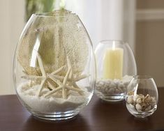 Centerpieces for a beach wedding