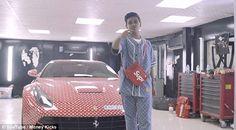f1df29048329b Dubai s Billionaire s teenage son gets a Ferrari covered in Louis Vuitton  print