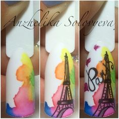 Nails University. Ногти и Маникюр пошагово. Paris Nail Art, Paris Nails, Crazy Nail Designs, Nail Art Designs, Diy Nails, Cute Nails, Nail Art Modele, Sculpted Gel Nails, Nail Drawing
