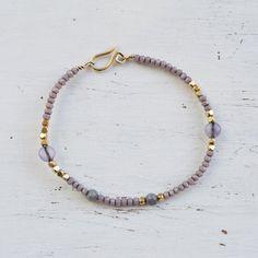 I #amethyst bracelet,beaded bracelet,gemstone #bracelet ,bohemian bracelet,dainty bracelet,gift for her  This bracelet is mix of gold filled beads and tiny swarovski beads an... #etsy #styles #fashion #shopping #jewelry