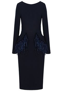 aaf06fe0637 Платье-футляр с съёмными перьями