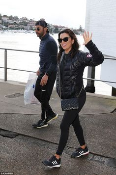 Casual: Shielding herself from the cold, the Desperate Housevies star donned a padded puf...