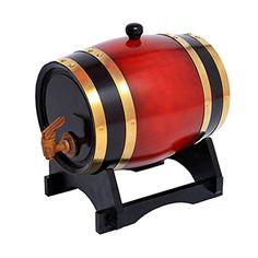 Oak barrels 15L Wooden Barrel for storage or aging wine & spirits Vintage Style Tabletop Wine Dispenser Barware Wine Accessory Sets Wine Barrels (Brown) (Red wine).