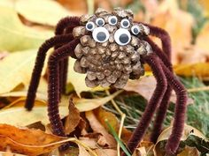 Check out these fun and easy Halloween spider craft ideas for kids. Kindergarteners, preschoolers, and toddlers will love these arts and crafts ideas, and adults can use these ideas to make and sell spider crafts, too. Manualidades Halloween, Halloween Crafts For Kids, Halloween Party Decor, Crafts To Make, Arts And Crafts, Diy Halloween, Halloween Spider, Pine Cone Crafts For Kids, Preschool Halloween