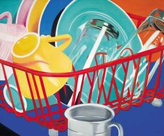 'The Pop Object': New Book And Exhibit Explores The Still Life Tradition Of Pop Art (PHOTOS) James Rosenquist, Dishes, 1964 Oil on canvas 50 x 60 inches x cm) Andy Warhol, Jasper Johns, Roy Lichtenstein, Robert Rauschenberg, David Hockney, Cultura Pop, Richard Hamilton, James Rosenquist, Guggenheim Bilbao