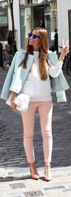 Fashionable Ways to Style Rose -Quartz Pantone This Season - All For Fashions - fashion, beauty, diy, crafts, alternative health Passion For Fashion, Love Fashion, Fashion Beauty, Fashion Outfits, Fashion Trends, Spring Summer Fashion, Spring Outfits, Autumn Fashion, Spring 2014