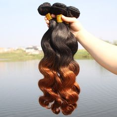 1 Pcs 6A Virgin Hair Ombre Body Wavy Women's Brazil Human Hair Weave