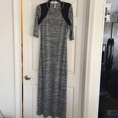Black/gray maxi dress Black/gray maxi dress from Xhilaration. Size Large. Xhilaration Dresses Maxi