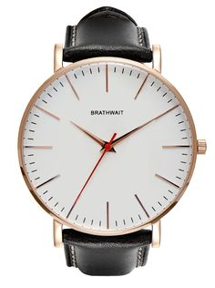 The classic slim wrist watch: Melano handmade Italian calf leather strap – Brathwait