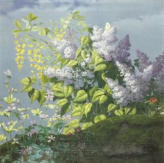 Lilacs by Peter Marius Bang (Danish, Dream Art, Old Paintings, Dream Garden, Danish, Oil On Canvas, Opera, Photo And Video, Lilacs, Floral