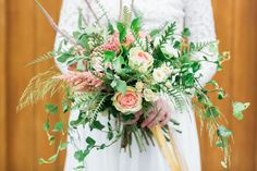 Gorgeous wild style bridal bouquet for an Irish country wedding, using lots of foliage like trailing ivy to give a real natural feel. Soft pink roses, spray roses and astilbe really compliment the greenery and give a softer touch to the wild bouquet. Wedding Flowers, Wedding Day, Astilbe, Wild Style, Spray Roses, Mamma, Bridal Bouquets, Pink Roses, Special Day