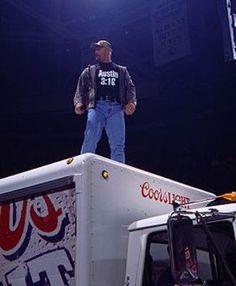 """Stone Cold"" Steve Austin beer truck"