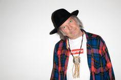 Campanha com Neil Young, fotografada por Terry Richardson