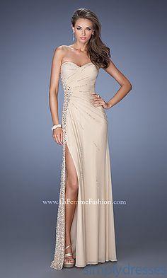 Elegant Strapless Floor Length La Femme Prom Dress 19779 at SimplyDresses.com