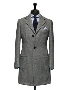 Tailored Coat – Fabric OCS0022 Double face Grey Cloth weight: 550g Composition: 100% Wool