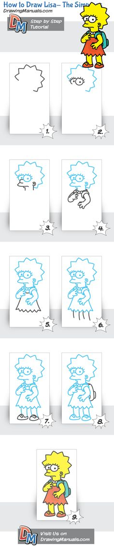 How to Draw Lisa- The Simpsons http://bit.ly/10Bxjhq