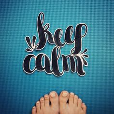 Keep calm and do yoga!