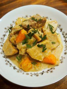 Creamy Goat Stew with Taro