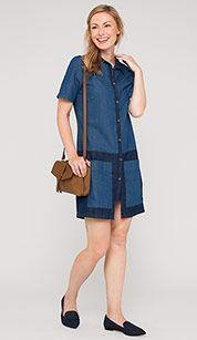 Jeansjurk in jeansblauw