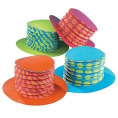 Bright Accordion Top Hats - OrientalTrading.com