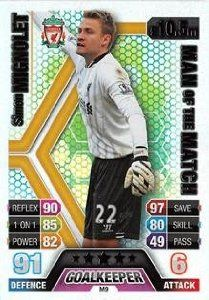 Match Attax Extra 2013/2014 Simon Mignolet Man Of The Match 13/14 #lfc #liverpool