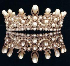 Empress Eugenie's Pearl and Diamond Tiara