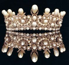 Empress Eugenie's Pearl and Diamond Tiara