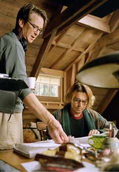David Koepp with Johnny Depp behind the scenes of Secret Window (2004)