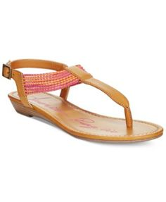 American Rag Piper T-Strap Flat Sandals, Only at Macy's