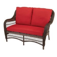 Modern Design Meets Classic Elements That Make This CANVAS Catalina  Collection Wicker Patio Loveseat An Elegant Addition To Your Outdoor Living  Décor. Part 90