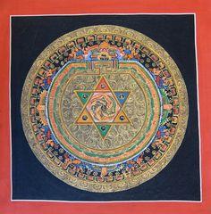 Original Thangka Mandala from Nepal