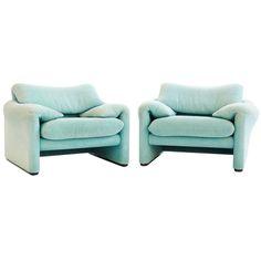 Vico Magistretti Lounge Chairs