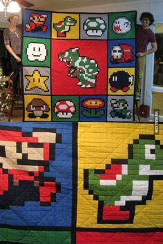 Super Mario Brothers quilt!