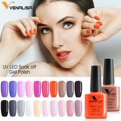 #61508 Venalisa New Brand 100% Gel Polish Soak Off UV LED UV Gel Nail Polish #Affiliate