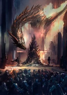 I really do want Dany to sit on the Iron Throne tonight though. I'm gonna miss Game of Thrones, biggest fantasy show of our modern times. that will not happen by tsundere-power on Dessin Game Of Thrones, Game Of Thrones Artwork, Game Of Thrones Dragons, Game Of Thrones Fans, Daenerys Targaryen, Khaleesi, Tsundere, Tatouage Game Of Thrones, Fantasy World
