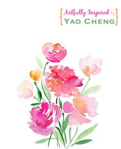 I am so in love with @Yao Cheng's beautiful #watercolor paintings. She's my artful inspiration today on the blog.